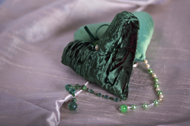 green velvet heart