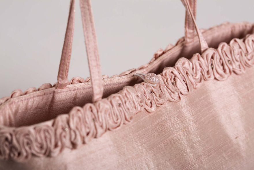 Silk ruched detail