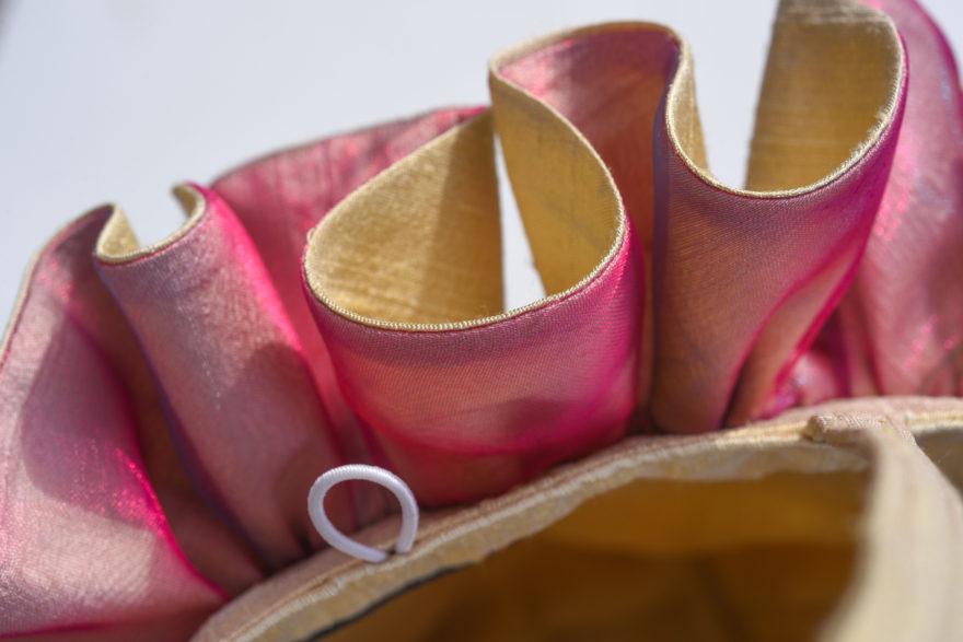 Pink organza ruffle