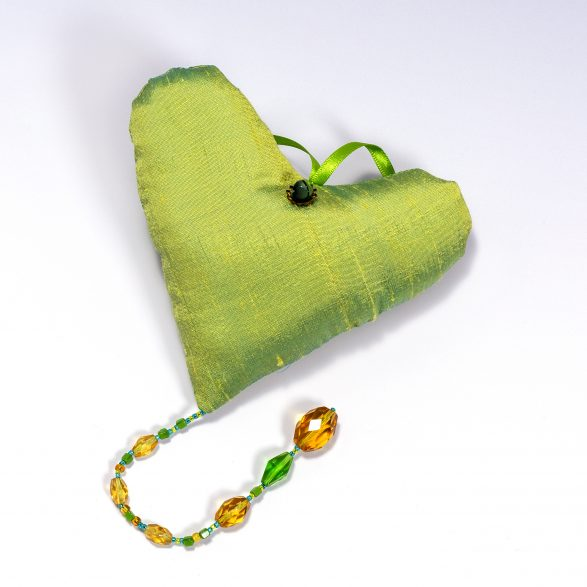 single lime heart